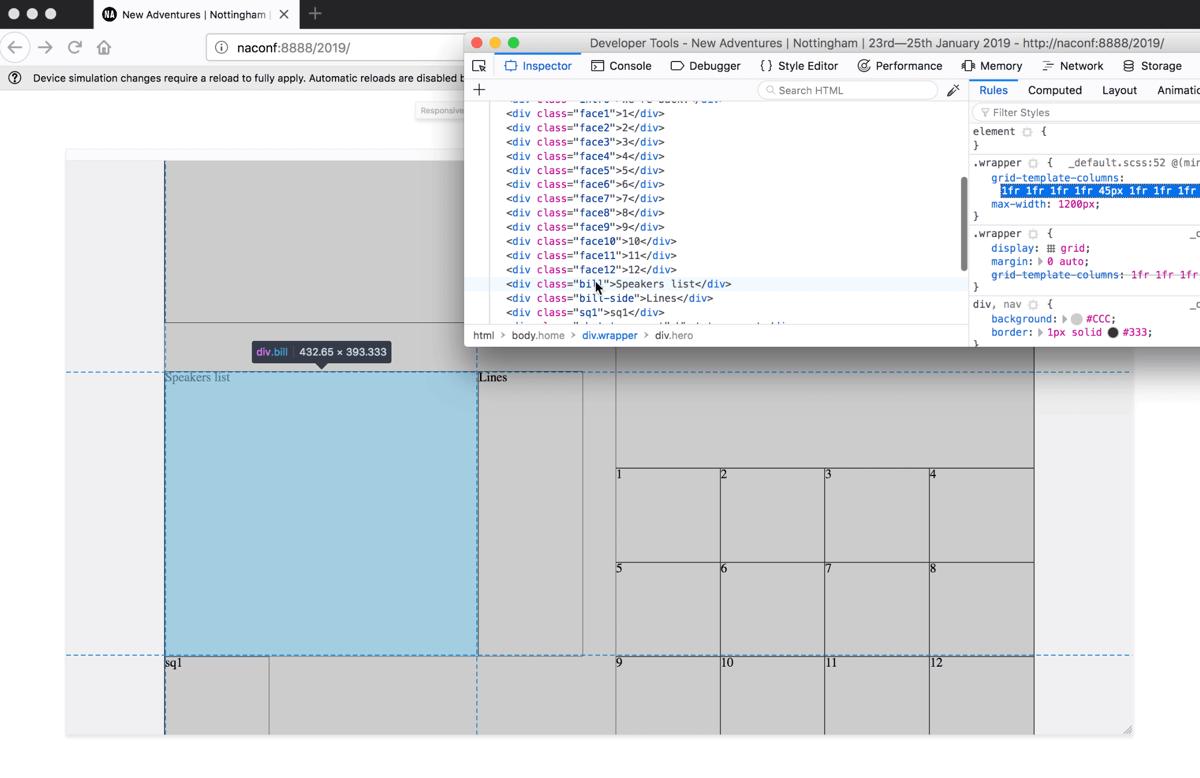 CSS Grid prototyping Firefox